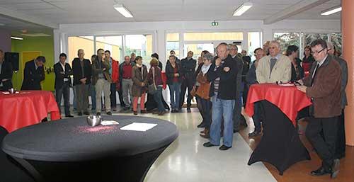 Personnes présentes à lm'inauguration du restaurant scolaire de Le Sourn