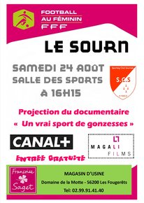 "Football : projection du film ""Un vrai sport de gonzesse"""
